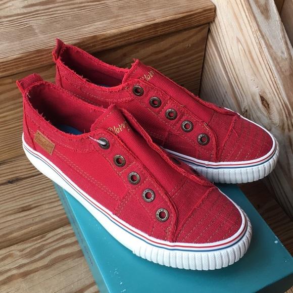 Blowfish Shoes | Red Sneaker Slip Onscm